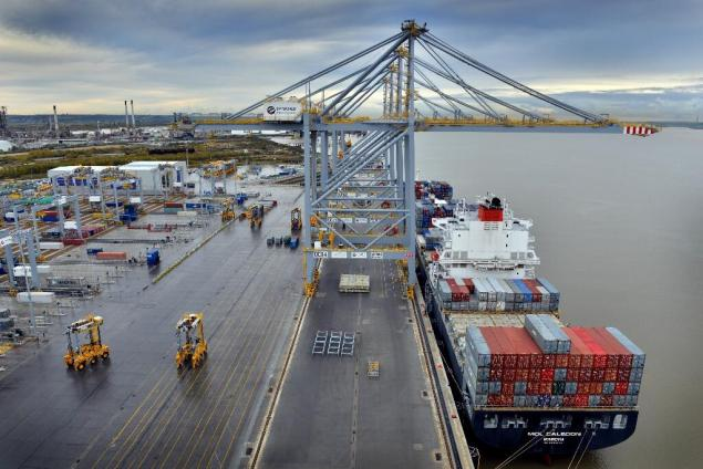 DP World's London Gateway opened in November 2013 with the arrival of the MOL Caledon. The port's second berth opened in May 2014. Photo: London Gateway