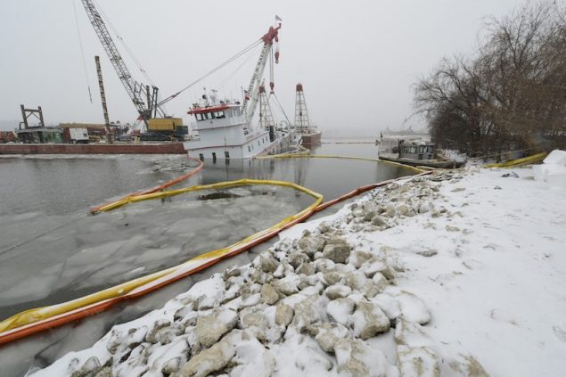 Stephen L. Colby Response crews continue operations despite deteriorating weather