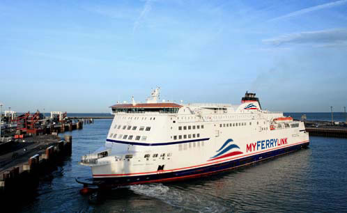 Eurotunnel's Dover-Calais ferry, Berlioz. Photo courtesy MyFerryLink