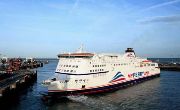Eurotunnel's Dover-Calais ferry, Berlioz. Photo courtesy MyFerryLink
