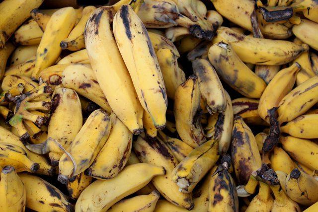 overripe bananas rotten
