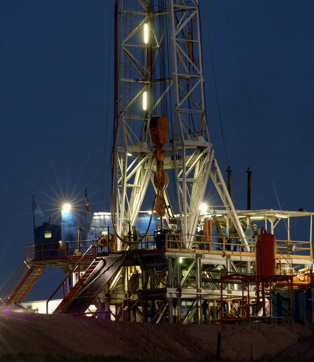 drilling texas land rig
