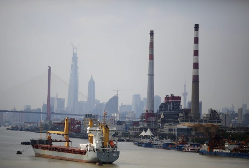 A ship is seen on the Huangpu River in Shanghai October 14, 2013. REUTERS/Carlos Barria