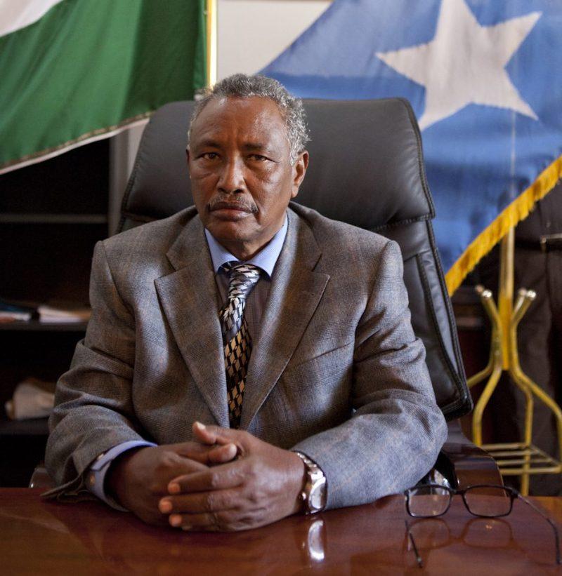 Portrait of Puntland President H. E Abdirahman Mohamed Mohamud (Farole) in his office in Garowe. Image (c) Jason Florio, Somalia Report