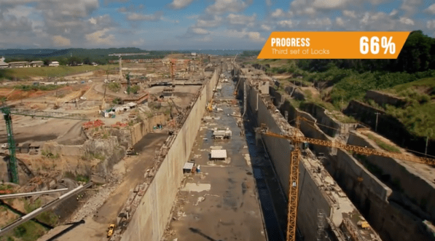 in a January 2014 update, the Panama Canal Authority