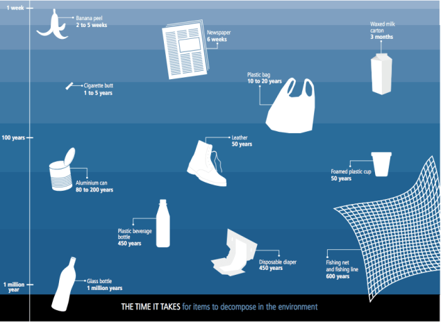 how long does plastic take to degrade in the ocean