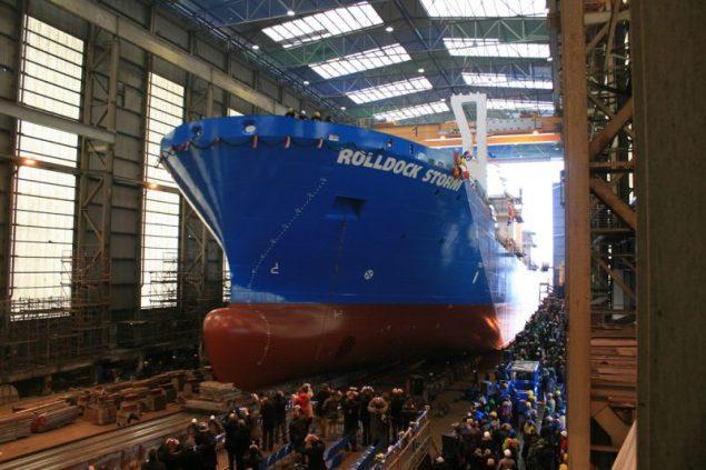 Rolldock Storm launch. Photo courtesy Rolldock BV