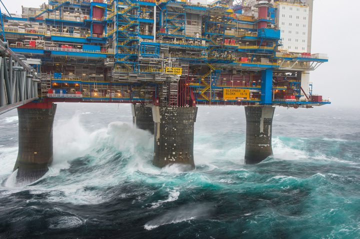 sliepner a platform statoil north sea
