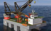 huisman semi-submersible crane barge