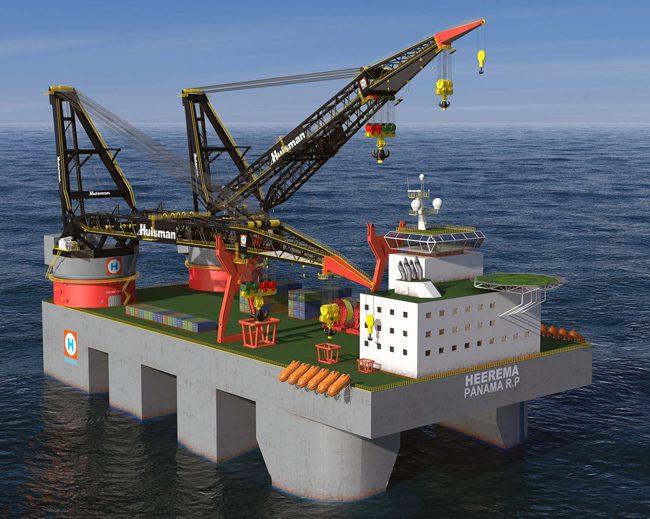 huisman semi-submersible crane barge