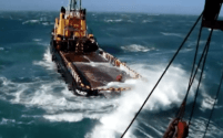 Video: OSV Deck Crew Gets Pummeled By Crashing Wave