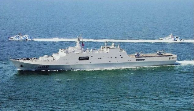 The Kunlun Shan (998) is one Chinese navy ship aiding in the search for flight MH370.