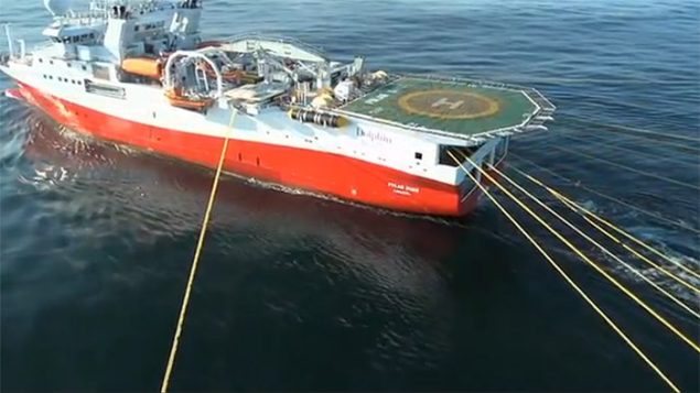 polar due seismic vessel array dolphin geophysical