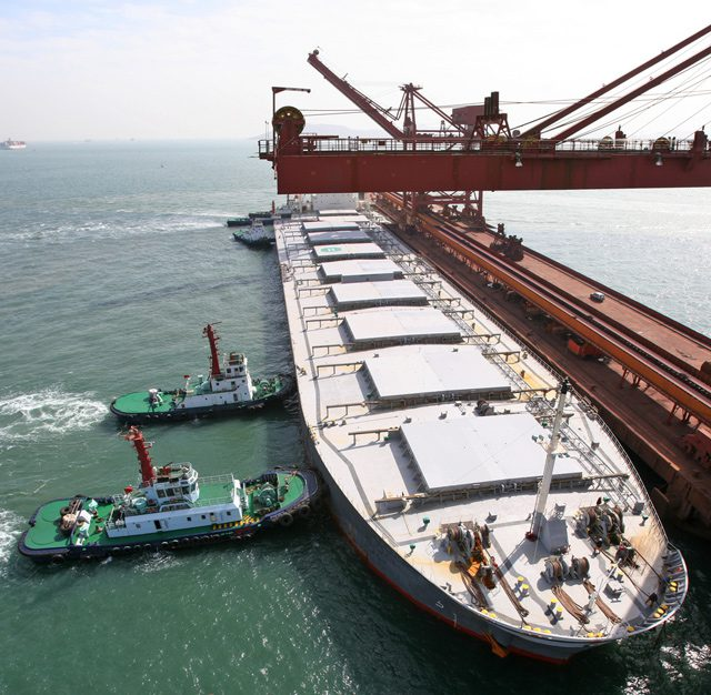 capesize bulk carrier iron ore terminal