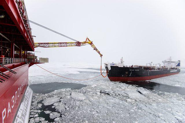 Mikhail Ulyanov shuttle tanker gazprom sovcomflot