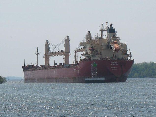 The MV  Federal Kavalina as seen on May 26, 2014. U.S. Coast Guard Photo
