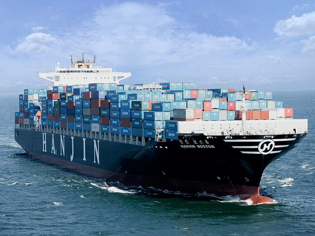 hanjin shipping boston containership