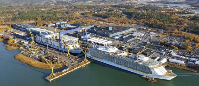 File photo of the STX Finland Turku Shipyard.