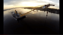 View from Above: Donjon's Chesapeake 1000 Crane Barge