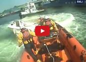 WATCH: RNLI Lifeboat Crew Lassos Runaway Speedboat