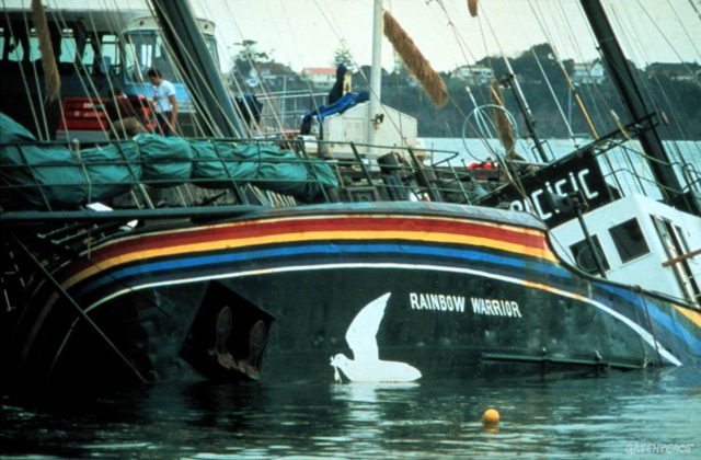 rainbow warrior sunk auckland