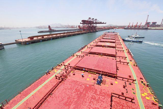 capesize bulk carrier terminal iron ore dry bulk