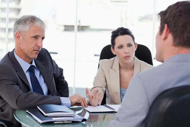 hiring manager business meeting negotiating