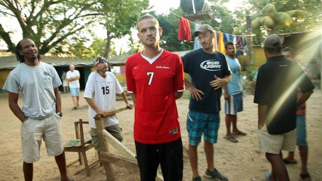 Part of the six-man crew seen in a Honduras prison. Photo courtesy Aqua Quest Films/Facebook