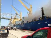 Cargo Ship Catches Fire at Corpus Christi