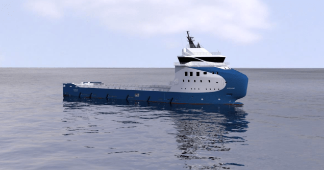 The 4,000 dwt VARD 1 08 platform supply vessel will measure 81 meters in length  and 18 meters wide. Illustration courtesy VARD Holdings