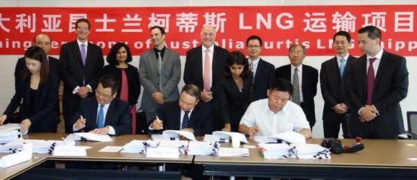 hudong shipbuilding lng carrier signing