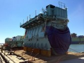 Engine to Power World's First Dual-Fuel Containership Delivered to Shipyard