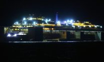 Costa Concordia under tow. Photo courtesy The Parbuckling Project