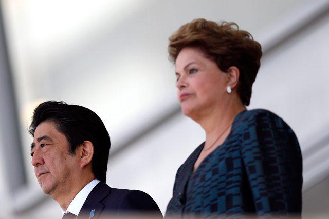 President Dilma Rousseff Japan Prime Minister Shinzo Abe