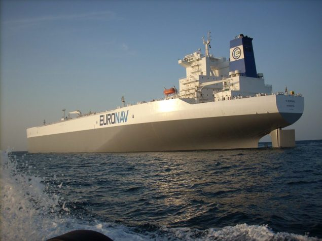 The 441,561 DWT TI Europe is 100% owned by Euronav and measures 380 meters long. Photo courtesy Euronav