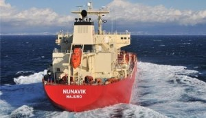 Earlier this year, the MV Nunavik became the first vessel to carry a cargo of Arctic origins the full length of Canada's Northwest Passage. Photo courtesy Fednav