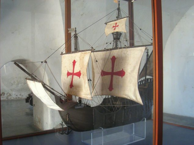 A model of the Santa Maria on display in Fort San Cristóbal, Puerto Rico. Photo credit: Wikimedia Commons