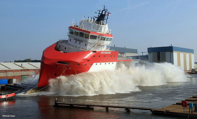 mv kroonborg launching royal wagenborg