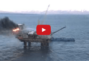 New Video Shows Natural Gas Platform Fire in Cook Inlet, AK