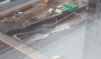 Watch: Construction Barge Sinks Within Seconds On Chicago River