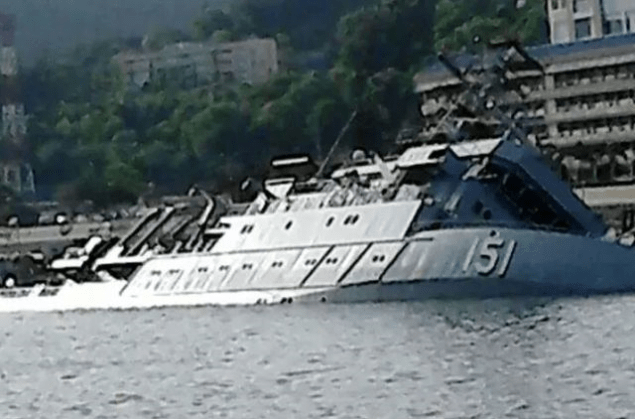 KD Perantau capsized at the dock at