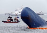 Weather Hampers Lifting of Sewol Wreck in South Korea