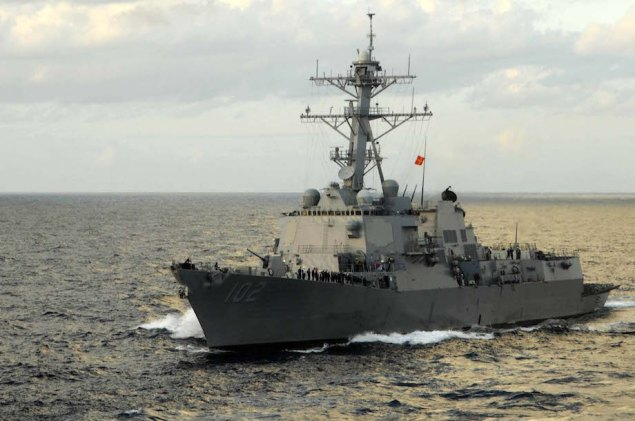 The guided-missile destroyer USS Sampson (DDG 102) in the Philippine Sea. File photo courtesy U.S. Navy