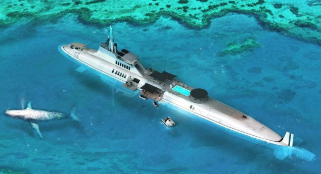 Migaloo submersible concept. Illustration: