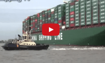 WATCH: World's Biggest Containership Makes Maiden Call in UK