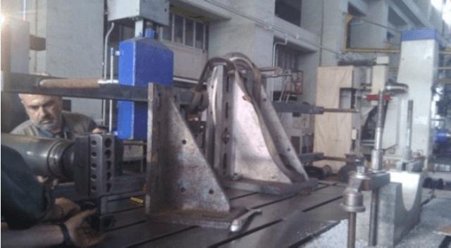 Accurate measurements (0,01mm) in boring machine