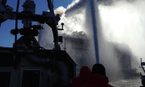 FDNY Fireboats Respond to 7-Alarm Brooklyn Warehouse Fire