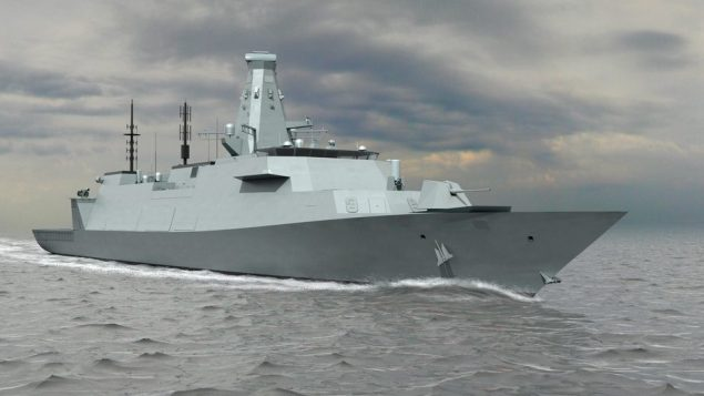 An early rendering of the Type 26 warships. Photo (c) BAE Systems