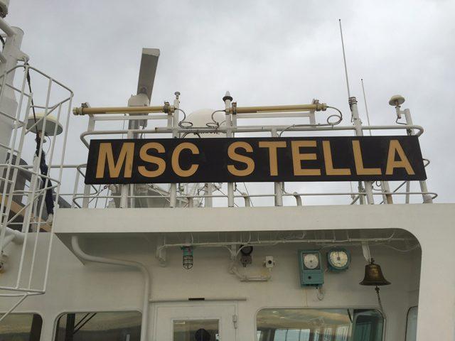 msc stella fog containership chesapeake bay