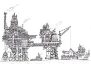 Sketched – Offshore Operations at a Maersk Production Platform